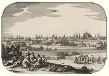 1403 Gezicht op de stad Goes, aan de zijde van de Westpoort of 's-Heer Hendrikskinderenpoort, vanuit het zuidwesten, ...