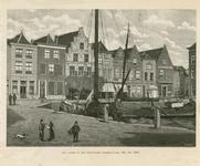 1412 Gezicht op de gevels van de oude huizen aan de Turfkade te Goes