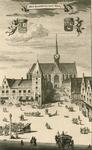 1418 Gezicht op het stadhuis te Goes, gezien van de Grote Markt, met de Kerkstraat en de Grote of Maria Magdalenakerk, ...