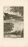 142 Twee gezichten in het dorp Koudekerke (Walcheren), met travalje, op 1 plaat