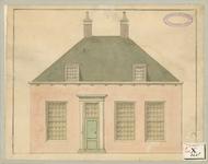 1466 De gevel van de pastorie van de Nederlandse Hervormde kerk te 's-Gravenpolder, vervaardigd voor de predikant J. Grims