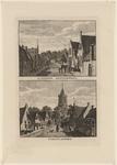 1475 Twee gezichten in het dorp 's-Heer Arendskerke, met dorpsstraat en Nederlandse Hervormde kerk en personen, op 1 plaat
