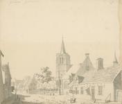 1498 Gezicht in het dorp Heinkenszand, met Nederlandse Hervormde kerk