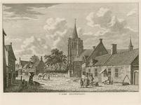 1499 Gezicht in het dorp Heinkenszand, met Nederlandse Hervormde kerk, en personen