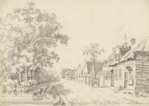 1508b Gezicht in de dorpsstraat van Hoedekenskerke, met vate en vee