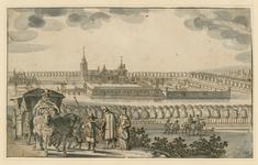 154 Gezicht op het huis Zwanenburg te Koudekerke (W.), met op de achtergrond de stad Vlissingen