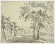 1568 Gezicht op het dorpsplein van Krabbendijke, met linksboven een aantekening