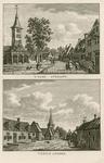 1601 Gezicht in het dorp Ovezande met Nederlandse Hervormde kerk en afslagershuisje, en personen, op 1 plaat