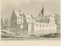 1611 Gezicht op het kasteel Lodijke in de omgeving van Reimerswaal