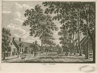 1645 Gezicht in het dorp Waarde, met travalje, en personen, waaronder een marskramer