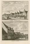 1656 Twee gezichten in het dorp Wemeldinge, met ambachtshuis en ambachtsheer, en personen, op 1 plaat