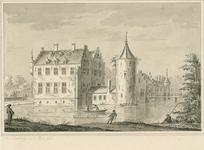 1664 Gezicht op het kasteel Muiden op de Piet te Wolphaartsdijk, met vissers en personen linksvoor en op de brug