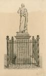 1695 Het standbeeld van Jacob Cats door beeldhouwer P. Parmentier, onthuld op 11 december 1829 op de Markt te Brouwershaven