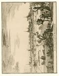 1767 Gezicht op de heerlijkheid Haamstede, vanuit het zuiden, met op de achtergrond de duinen, en op de voorgrond ...