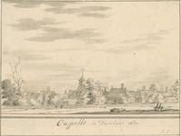 1809 Gezicht op het dorp Capelle (Duiveland), met Nederlandse Hervormde kerk
