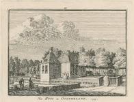 1849 Gezicht op het huis te Oosterland, met personen, waaronder mannen met manden op de voorgrond