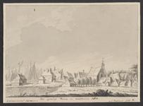 1868 Gezicht op het dorp Vianen (Duiveland), met rooms-katholieke kapel, en het handschrift van mr J. Verheye van Citters