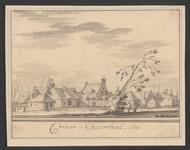 1869 Gezicht op het dorp Vianen (Duiveland), met voormalige rooms-katholieke kapel