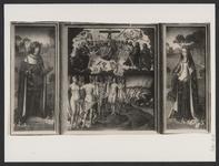 1956 Het triptiek van Philips de Schone en Johanna van Castilië, het Laatste Oordeel verbeeldend, voorheen in de ...