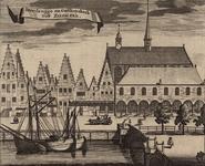 1992 De Breebrug en de Gasthuiskerk met beurs te Zierikzee, met links de gevangenis, en voorbijgangers
