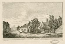 2012 Gezicht in het dorp Oud-Vossemeer, met de Nederlandse Hervormde kerk, een travalje, en een kar, getrokken door geiten
