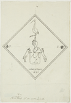 2077 Het ruitvormig wapenbord van jonkheer Plours, drost van Sint Maartensdijk, overleden 26 maart 1625, gehelmd met ...