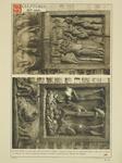 2220a Twee in hout gesneden sleutelstukken in de bovenzaal van het stadhuis te Sluis, met bijbelse taferelen (Adam en ...