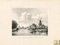 256 Gezicht op het bolwerk bij de Koepoort te Middelburg, met Branderijmolen en achter de Oostkerk
