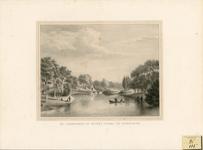 260 Gezicht op het bolwerk met Noordpoort en singel te Middelburg