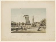 269 Gezicht op de Dam te Middelburg, met kraan, graanbeurs en Abdijtoren