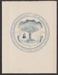 2869 Wapen met voorstelling boom, vis en klok, met omschrift en jaar 1636 op de klok van de N.H. Kerk te Vrouwenpolder, ...