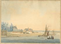 303 Gezicht op de noordzijde van de havendijk te Middelburg, tegenover het Nieuwlandse hoofd