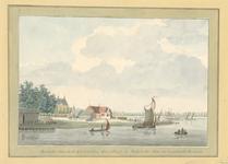 307 Gezicht van de oude haven van Middelburg tegenover Nieuwland van de zuidzijde, vóór de afdamming