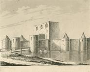 325 Gezicht op de oude Noordpoort te Middelburg, afgebroken in 1595