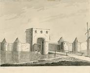 326 Gezicht op de Seispoort te Middelburg, afgebroken in 1591-1592, voorheen bekend als de Kosterstraatpoort