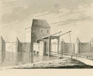 327 Gezicht op de oude Langevielepoort te Middelburg, afgebroken in 1595-1596