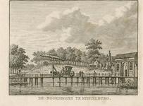 345 Gezicht op de Noordpoort te Middelburg, gezien van de landzijde