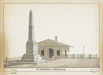 373 De gedenknaald aan de Rouaansekaai voor de opening van de nieuwe haven van Middelburg (1817), met het inklarings- ...