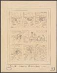 375 Plattegronden (6) en opstanden (2) van de verschillende stadhuizen van Middelburg