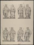 408b De beelden (14-21) van de graven en gravinnen van Holland en Zeeland Dirk en Ada, Willem (2x), Floris (2x) en Jan ...