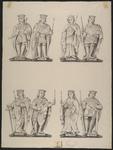 408c De beelden (22-29) van de graven en gravinnen van Holland en Zeeland Willem (4x) en Margarieta, Aelbrecht, Jacoba ...