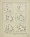 491 Zes plattegronden van de Abdij te Middelburg met de uitbreidingen