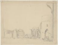 595 Gezicht op de afbraak van de Sint Pieterskerk of Oude Kerk te Middelburg