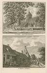 64 Twee gezichten in het dorp Biggekerke, met Nederlandse Hervormde kerk, op 1 plaat