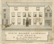 704 De gevel van het Herenlogement van de gebroeders Kraijesteijn aan de Lange Noordstraat C 31 (nu 36/38) te Middelburg