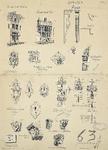 707b Bouwkundige details van gebouwen onder andere in Middelburg, Vlissingen en Veere