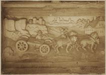 722a Details (beeldhouwwerk) met paard en wagen van de gevel van het huis In den Steenrotse te Middelburg aan de ...