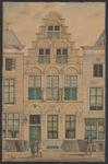730 De gevel van het huis aan de Noordzijde van de Dam N 7 (nu 69), Bergen op Zoom geheten, te Middelburg, met ...