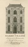 735 De gevel van het huis De Engel met het logement de Baron Chassé aan de Gortstraat K 19 (nu 30) te Middelburg, ...