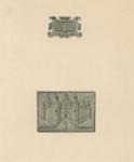 754 De gevelstenen (jaartal 1590 en burg) van het huis In Rosenbourch in de Brakstraat O 267 (nu 31-37) te Middelburg, ...